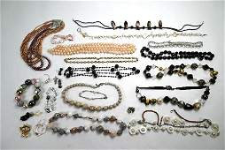 A collection of modern costume and fashion jewellery