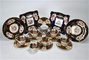 Victorian floral-painted china, etc.