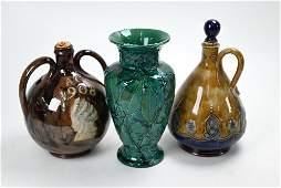 Three Royal Doulton stoneware vases