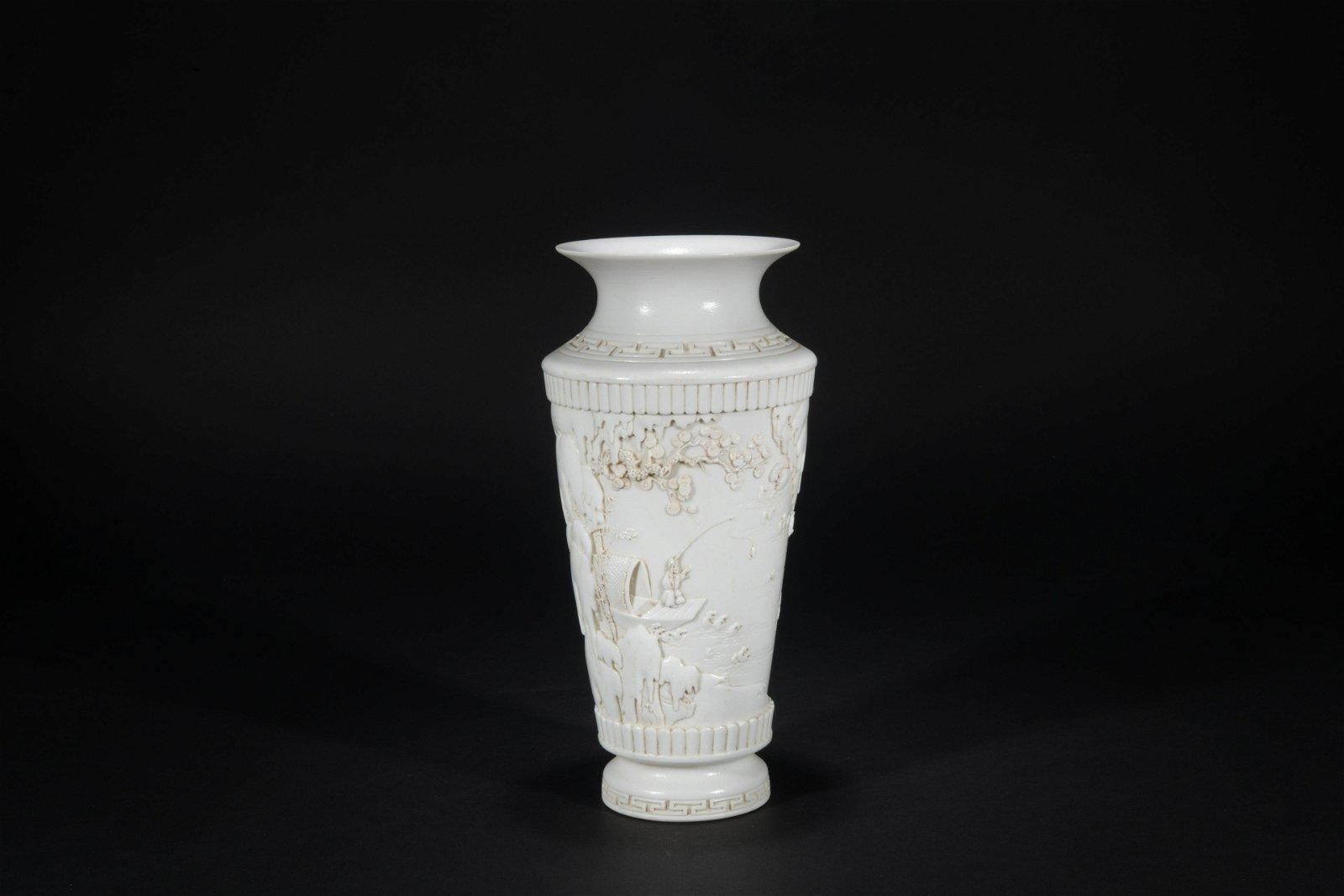 The Republic of China carved porcelain vase