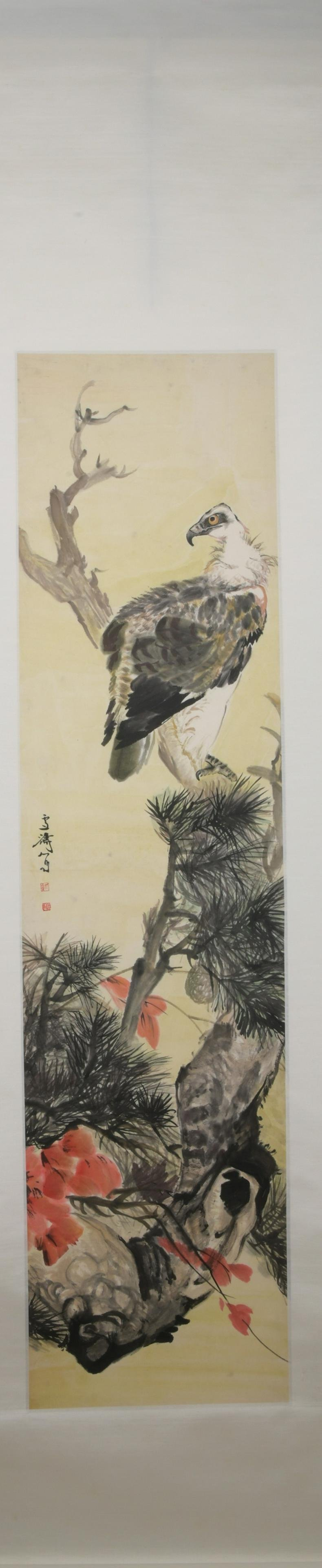 Modern Wang xuetao's flower and bird painting