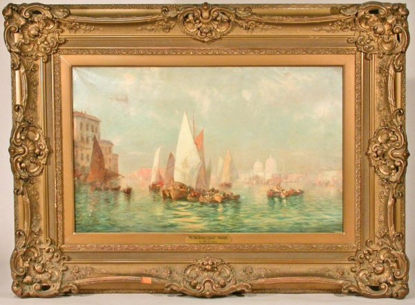 109: Signed 19C Oil Painting C.L. Muller 26X16