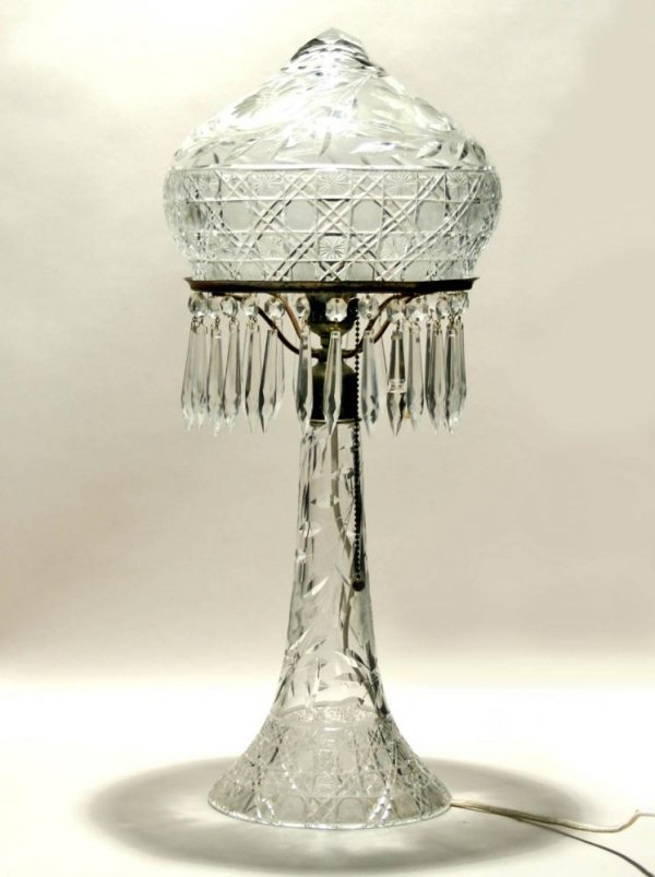 111: American Brilliant Period Cut Glass Table Lamp