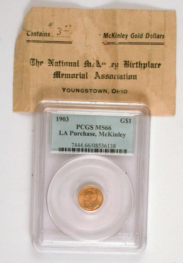 202: 1903 $1 Gold McKinley Louisiana Purchase