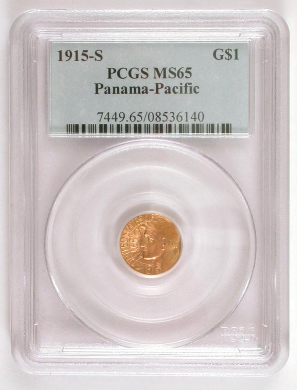 204: 1915-S $1 Gold Panama Pacific Expo