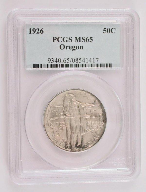 207: 1926 50 Cent SilverOregon Trail Memorial