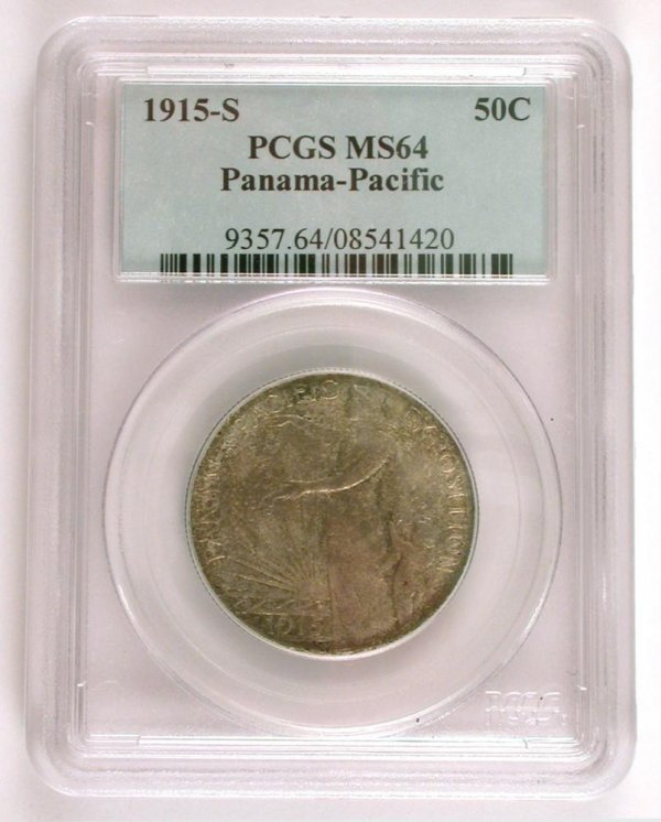 208: 1915-S 50 Cent Silver Panama Pacific Expo
