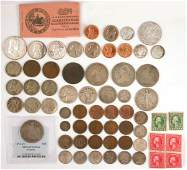 326: Tray Lot 19th & 20thC Silver Assorted US Coins