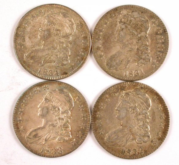 328: 1831 1832 1833 1834 50 Cent Silver US