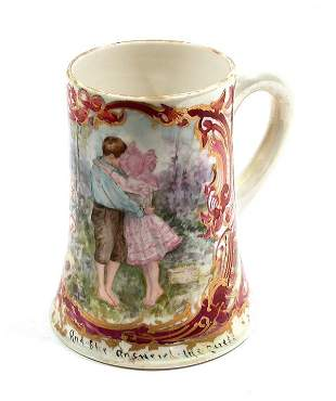 CAC American Belleek Porcelain Lg Mug 1903