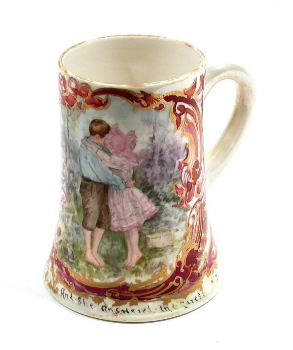 1103: CAC American Belleek Porcelain Lg Mug 1903