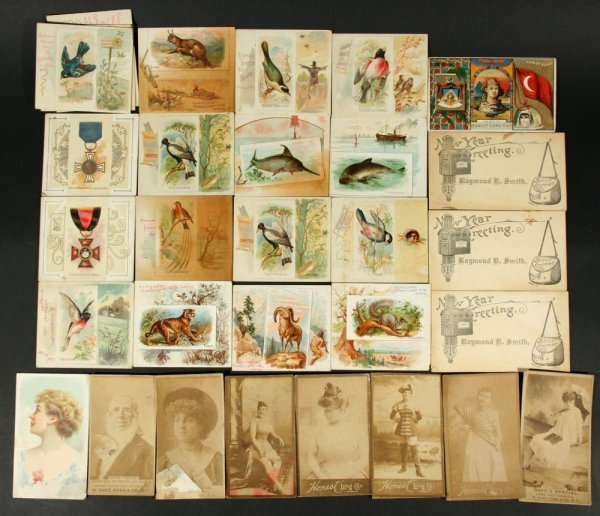 1109: Lot 19thC Cigarette Cards w/ Vaudeville Actress