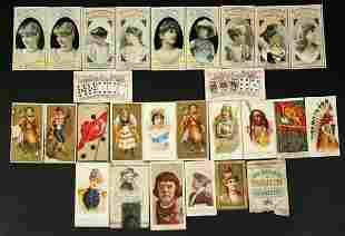 Lot 19thC Cigarette Cards Incl Poker Hands