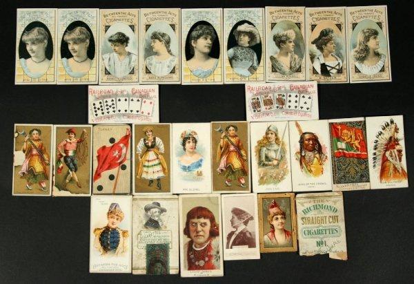 1110: Lot 19thC Cigarette Cards Incl Poker Hands