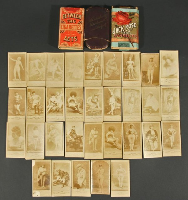 1111: 19thC Cigarette Photo Actress Cards w/ Nudes