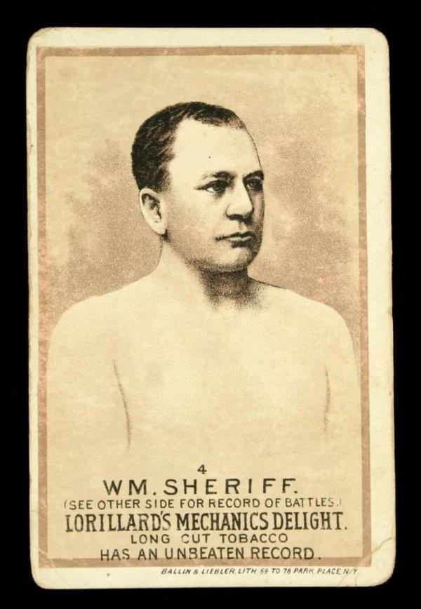 1118: Mechanics Delight Boxing Card Wm. Sheriff #4