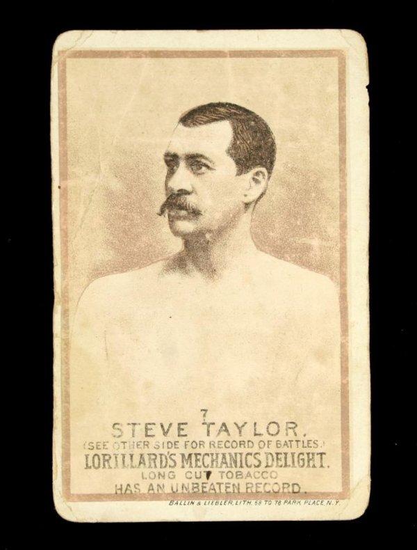 1123: Mechanics Delight Boxing Card Steve Taylor #7