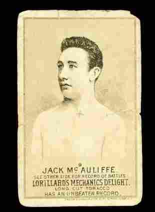 Mechanics Delight Boxing Card Jack McAuliffe #9