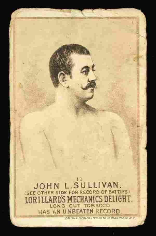 Mechanics Delight Boxing Card John L Sullivan 17