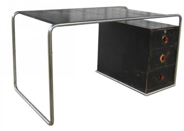 101: Marcel Breuer Thonet Bauhaus Steel & Wood Desk