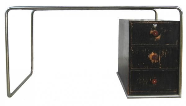 101: Marcel Breuer Thonet Bauhaus Steel & Wood Desk - 7