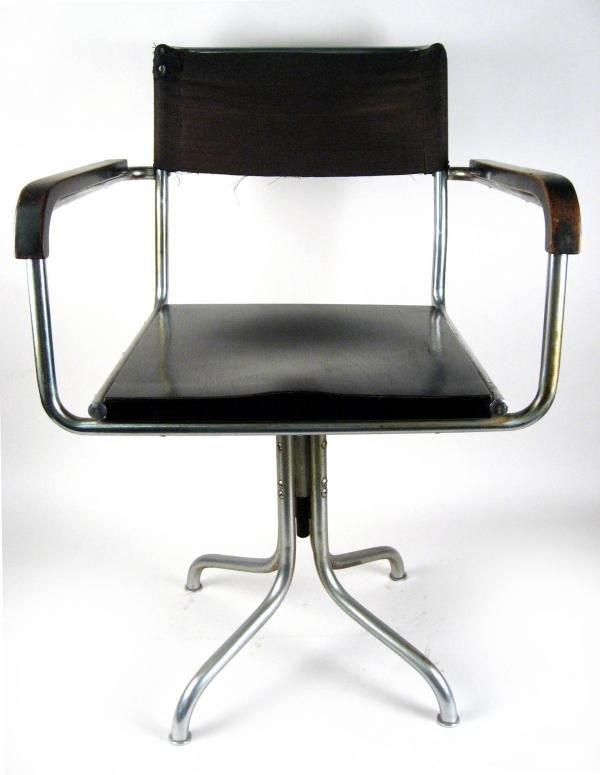 103: Marcel Breuer Thonet Tubular Steel Swivel Chair