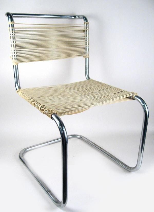 104: Marcel Breuer Thonet B-33 Tubular Steel Chair