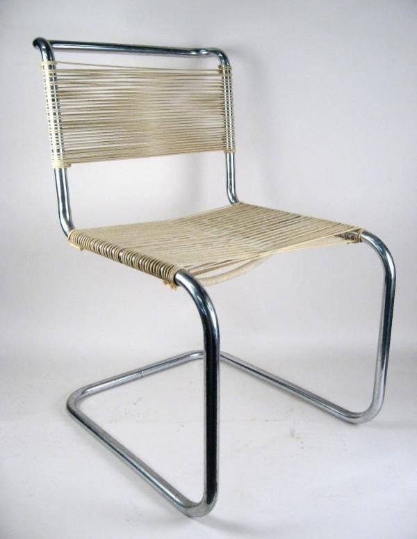 105: Marcel Breuer Thonet B-33 Tubular Steel Chair