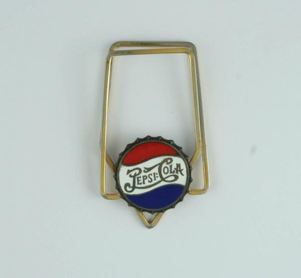 804: Pepsi-Cola Enamel Sterling Double Dot Money Clip