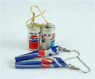 Pepsi-Cola 2 Pairs Earrings