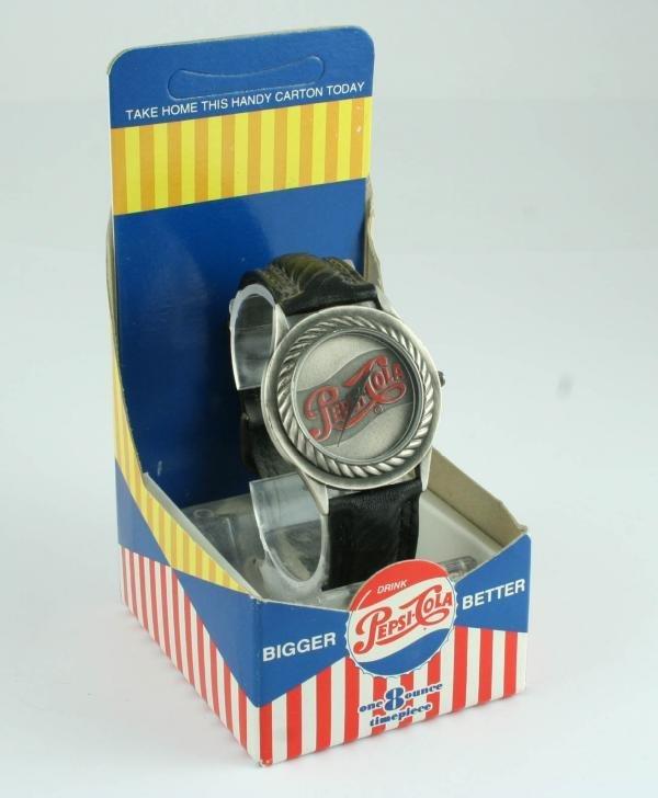 809: Pepsi-Cola Bigger Better Wristwatch MIB