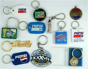 Pepsi-Cola Key Ring Lot