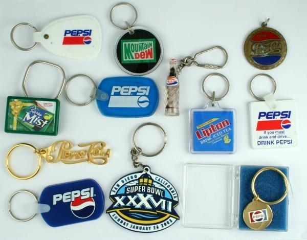 811: Pepsi-Cola Key Ring Lot