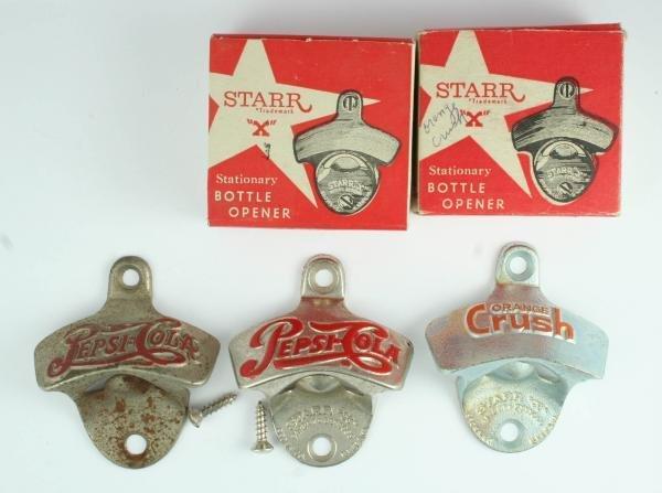 "812: 3 Pepsi-Cola Starr ""X"" Bottle Openers"