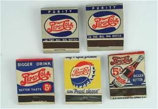 Pepsi-Cola Matchbook Lot Incl Double Dot
