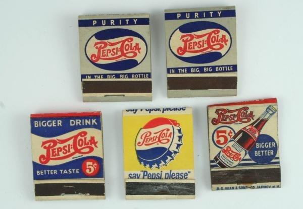 813: Pepsi-Cola Matchbook Lot Incl Double Dot