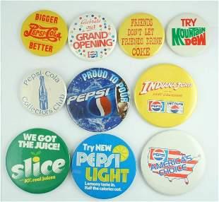 Pepsi-Cola Pinback Button Lot