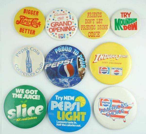 816: Pepsi-Cola Pinback Button Lot