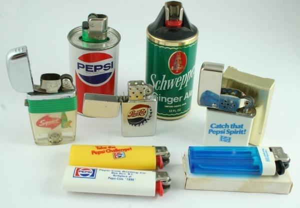 818: Pepsi-Cola Cigarette Lighter Lot