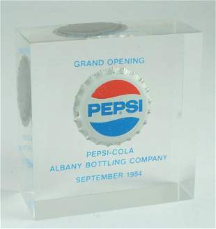 Pepsi-Cola 1984 Albany Bottling Co Paperweight