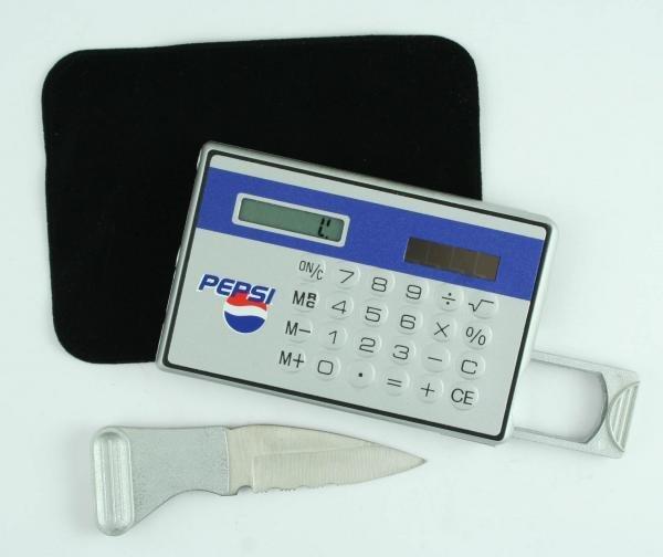 823: Pepsi-Cola Calculator Magnifier & Knife wCase
