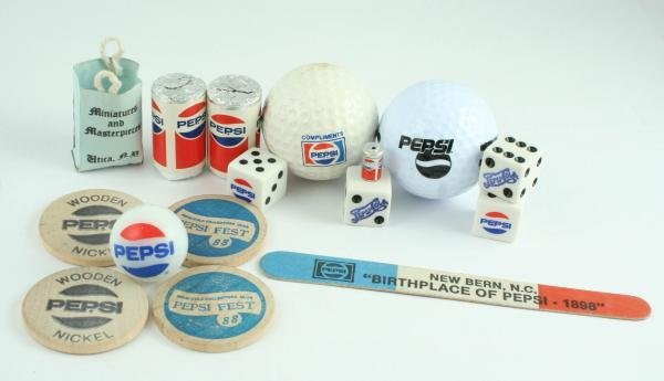 824: Pepsi-Cola Assorted Lot Incl Candy Marble Dice