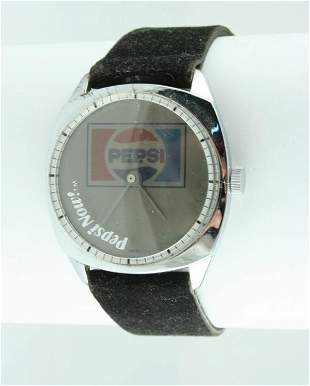 1970 Pepsi-Cola Pepsi Now Swiss Wristwatch