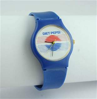 Pepsi-Cola Criterion Quartz Diet Pepsi Wristwatch