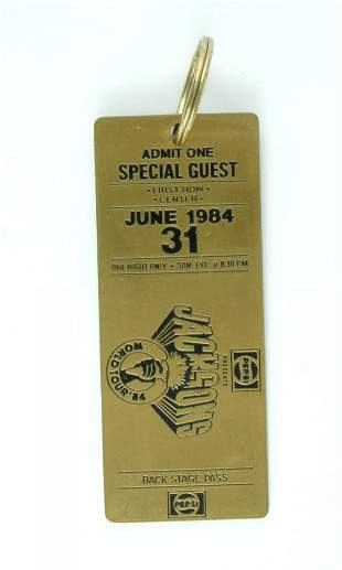 Pepsi-Cola Jacksons World Tour 1984 Key Ring