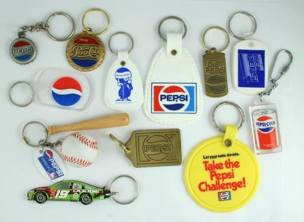 510: 1990s Pepsi-Cola Key Ring Fob Lot
