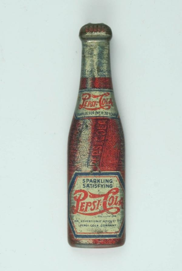 512: Pepsi-Cola C1940s Tin Litho Bottle Opener