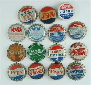 1940s-80s Pepsi-Cola Bottle Cap Lot