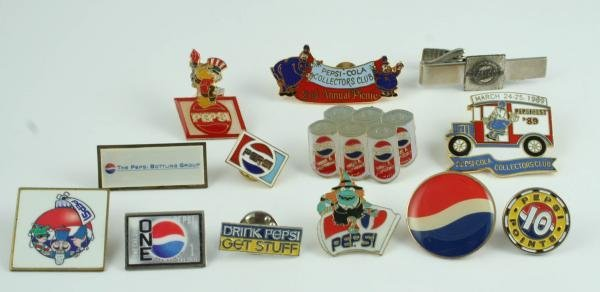517: 1990s Pepsi-Cola Lapel Pin Lot