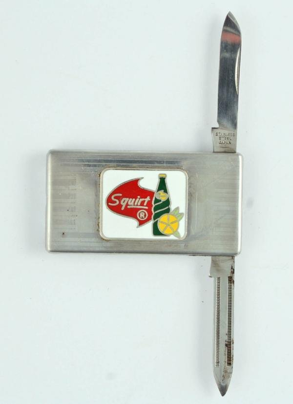 520: Pepsi-Cola Squirt Money Clip Enamel Pocket Knife